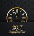 happy new year clock design 0311 vector image vector image