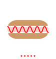 hot dog it is icon vector image vector image