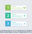 infographic design business concept with 3 steps vector image vector image