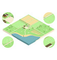 isometric farm vector image