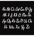 Letters of the alphabet written vector image vector image