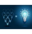 Light bulb ideas2 vector image