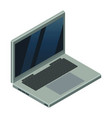 light grey laptop with a lot details and vector image vector image