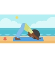 Man practicing yoga vector image vector image