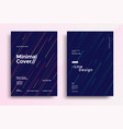 minimal covers design with color simple line vector image vector image