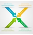 Modern Arrow Infographic Template vector image