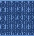 navy blue elegant leaf blossom pattern geo vector image