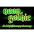 neon gothic 01 vector image vector image