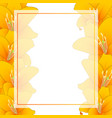 orange lily banner card border vector image