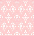 pink damask pattern vector image
