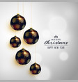 premium christmas hanging balls greeting card vector image vector image