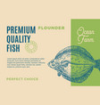 premium quality flounder abstract fish vector image vector image