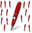 red pen vector image vector image
