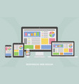 responsive web design flat web design vector image vector image