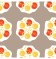 Scrambled eggs Seamless pattern with fried eggs vector image