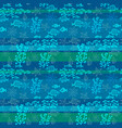 sea and fish seamless pattern vector image