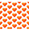 seamless pattern with hearts isolated on white vector image vector image