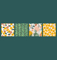 seamless patterns with simple pears trendy vector image