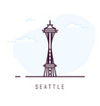 seattle line style vector image