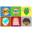 set from 6 icons of avatars vector image