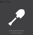 shovel premium icon white on dark background vector image