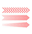 sideways set linear signs collection vector image vector image