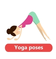 simple yoga poses for pregnant vector image