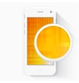 Smart Phone with Isolated Realistic white vector image vector image