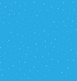 snowy seamless patern white dot snowflakes on vector image