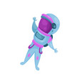 spaceman character astronaut flying in space vector image vector image