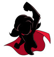 super girl flying silhouette vector image vector image