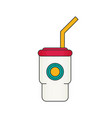 tasty cocktail in closed cup flat vector image vector image