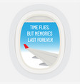 time flies but memories last forever motivational vector image
