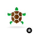 Turtle logo with shield shaped shell vector image vector image