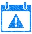 Warning Calendar Day Grainy Texture Icon vector image vector image