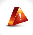 warning sign icon design vector image vector image