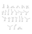 women doing yoga in different poses vector image vector image