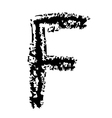 F Brushed vector image