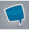 Blue cloud speech vector image