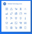 25 technology icons vector image vector image