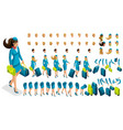 3d constructor stewardess create your character vector image vector image