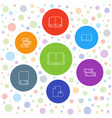 7 literature icons vector image vector image