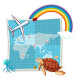 a map on white background vector image vector image