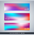abstract colorful fluid mesh banners set vector image vector image