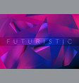 abstract concept geometric low poly retro vector image vector image
