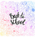 back to school template with hand drawn elements vector image