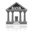 bank building financial concept vector image