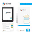 beer glass business logo tab app diary pvc vector image vector image