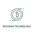 Bitcoins technology line icon bitcoins