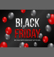 black friday sale banner layout template design vector image vector image
